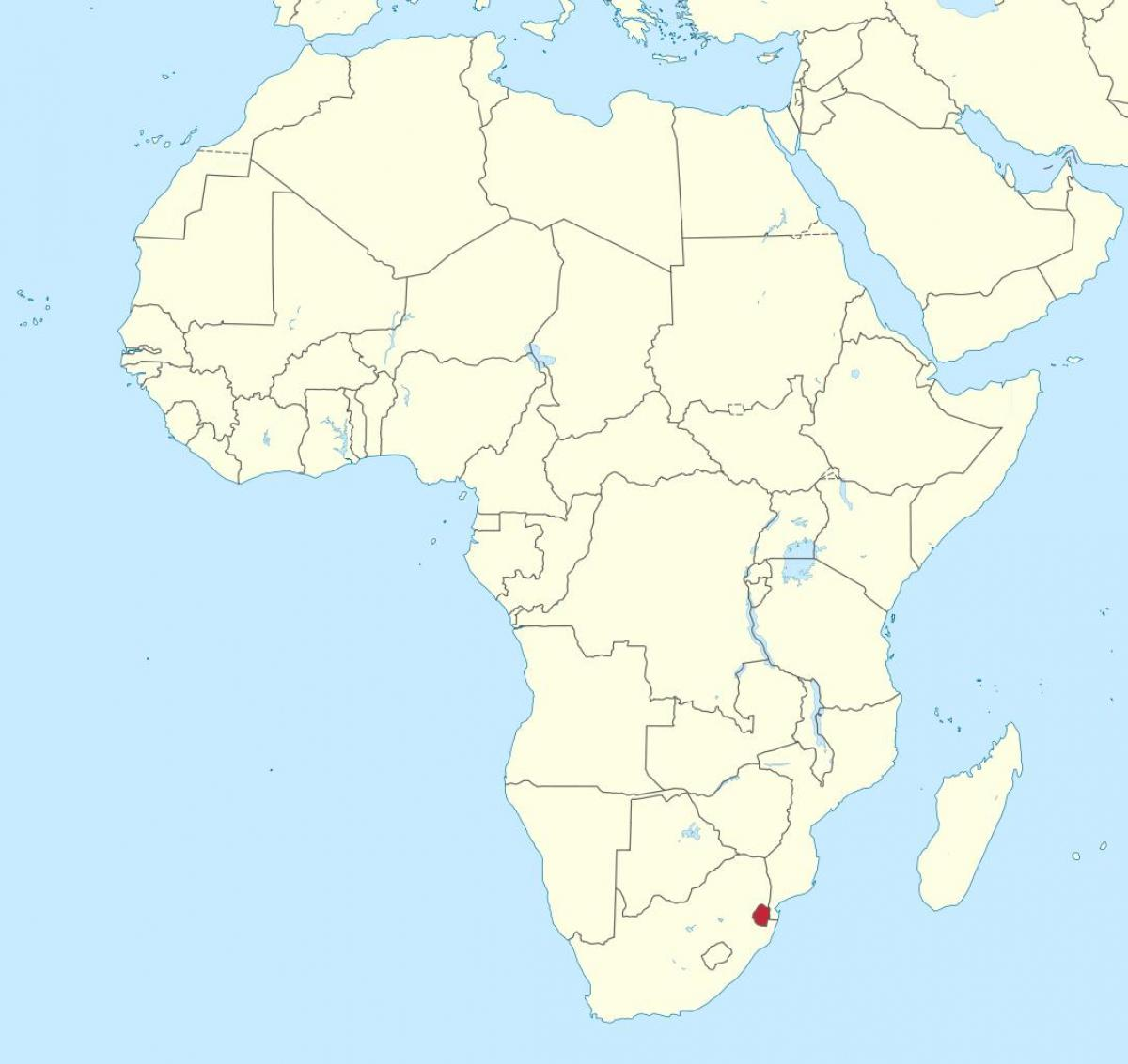 Map of Swaziland africa