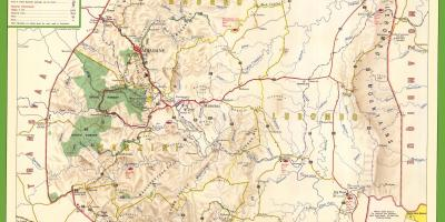 Map of Swaziland detailed